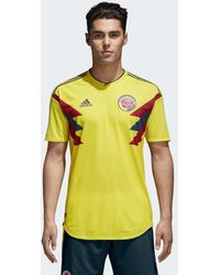 Lyst - adidas Originals Retro Colombia Football Jersey In Yellow ... 54fa22325
