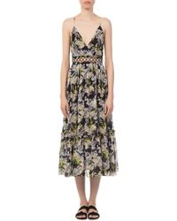 Marissa Webb - Deanna Silk Print Floral Dress - Lyst