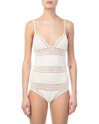 She Made Me - Essential Baby Doll White One Piece - Lyst