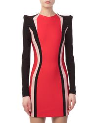 Mugler - Shoulder Padded Stretch Dress - Lyst