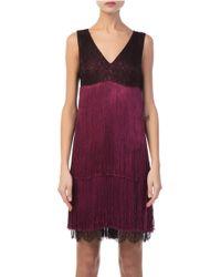 Prabal Gurung - V Neck Fringe Dress - Lyst