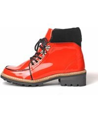 Ganni - Fred Big Apple Red Boots - Lyst
