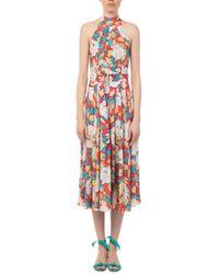 Diane von Furstenberg - High Neck Halter Dress - Lyst