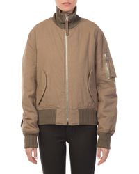 Helmut Lang - High Collar Bomber - Lyst