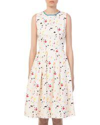 Carolina Herrera - Ivory Multi Printed Dress - Lyst