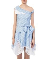 Jonathan Simkhai - Cutout Mini Wrap Dress - Lyst