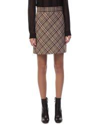 Theory - High Waist Mini Skirt - Lyst