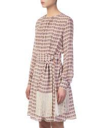 Derek Lam - Midi Dress With Tasseled Belt - Lyst