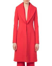 Brandon Maxwell - Red Rolled Lapel Coat - Lyst