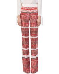 Derek Lam - Wide Leg Printed Pants - Lyst