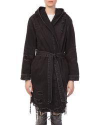 Alexander Wang - Short Robe With Hood - Lyst