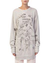 R13 - Doodle Printed Sweatshirt - Lyst
