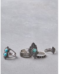 American Eagle - Turquoise Ring 5-pack - Lyst