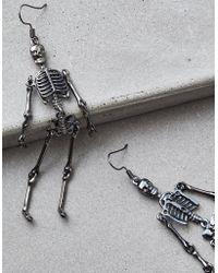 American Eagle - Skeleton Earrings - Lyst