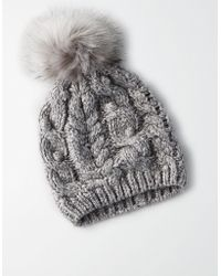 American Eagle - Bobble Cable Beanie - Lyst