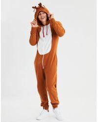 American Eagle - Reindeer One-piece Pajama Costume - Lyst