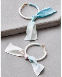 American Eagle - Tie Dye Bow Hoop Earrings - Lyst