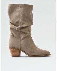 American Eagle - Slouchy Western Bootie - Lyst