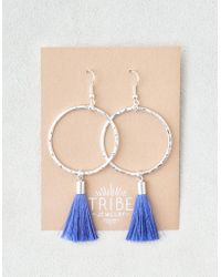 American Eagle - Tribe Tassel Hoop Earrings - Lyst