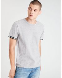 American Eagle - Ae Pique Tipped T-shirt - Lyst