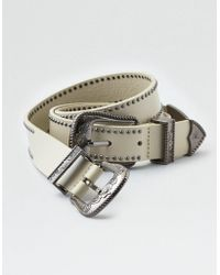 American Eagle - Double Buckle Western Belt - Lyst