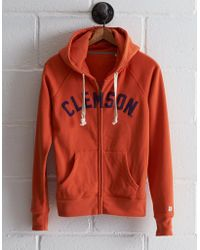 abf8fb22cf21 Lyst - Tailgate Women s Clemson Tigers Cowl Neck Hoodie in Gray