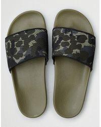 American Eagle - Slydestm Carter Khaki Slider Sandals - Lyst