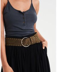 American Eagle - Wide Studded Waist Belt - Lyst