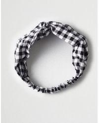 American Eagle - Ae Black Gingahm Headband - Lyst