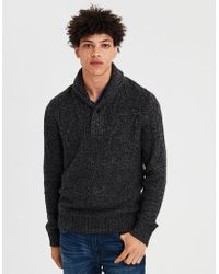 American Eagle - Ae Cable Knit Popover Shawl Sweater - Lyst