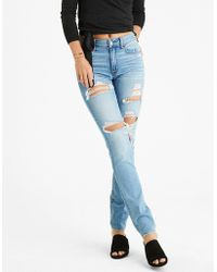 American Eagle - Hi-rise Straight Jean - Lyst