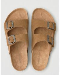 American Eagle - Suede Double Buckle Sandal - Lyst