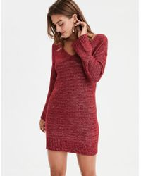 American Eagle - Ae Tie Back Sweater Dress - Lyst