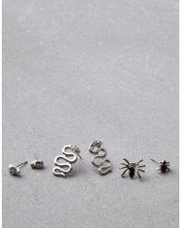 American Eagle - Silver Halloween Earring 3-pack - Lyst