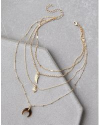 American Eagle - Layered Tort Necklace - Lyst