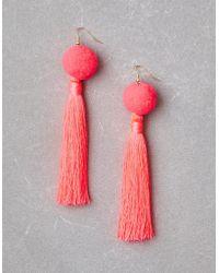 American Eagle - Neon Pink Tassel Earrings - Lyst
