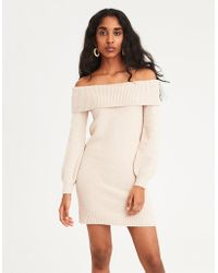 American Eagle - Ae Off-the-shoulder Sweater Dress - Lyst