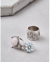American Eagle - Silver Boho Ring 3-pack - Lyst