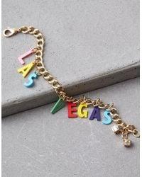 American Eagle - Ae Las Vegas Charm Bracelet - Lyst