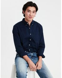 62946d83 Lyst - American Eagle Ae Seriously Soft Oxford Button Down Shirt in ...