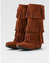 American Eagle - Minnetonka Triple Fringe Boot - Lyst