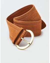 American Eagle - Wide Stitched Waist Belt - Lyst