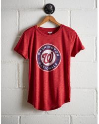 ce93a4b43 Lyst - 47 Brand Women s Washington Nationals Flanker T-shirt in Red
