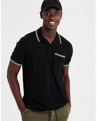 American Eagle - Ae Stretch Pique Tipped Pocket Polo Shirt - Lyst