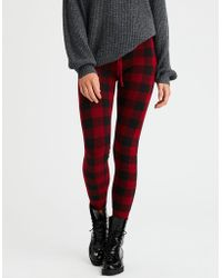 American Eagle - Buffalo Plaid Sweater Legging - Lyst