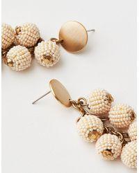 American Eagle - Cream Seed Bead Cluster Earring - Lyst