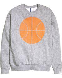 H&M | Print Sweatshirt | Lyst