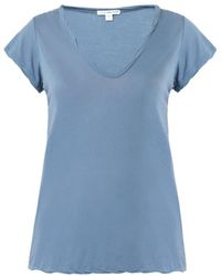 James Perse Scoopneck Tshirt - Lyst