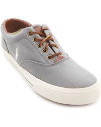 Polo Ralph Lauren Vaughn Grey Canvas Sneakers - Lyst