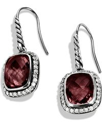 David Yurman Noblesse Drop Earrings with Garnet and Diamonds - Lyst